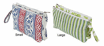 Knitter's Pride Hand Block Printed Radiance Full Fabric Double Zipper Pouch