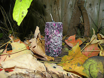 New Medium Dark Fairy Pillar Candle Fairy Dust Fae Faery Wicca Magic Gothic