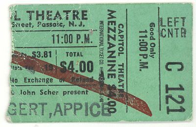 Beck Bogert & Appice Wet Willie 3/30/73 Passaic NJ Capitol Thtr Ticket Stub Jeff
