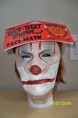 Adult Evil Scary Old Clown Face Latex Mask Halloween Costume Macd101
