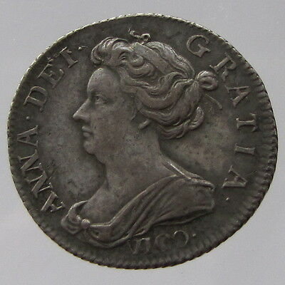 Anne Silver Sixpence 1703 Vigo Near EF/Good VF