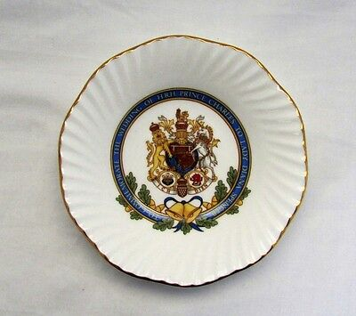 Elizabethan Porcelain Trinket Dish Royalty Commemorate Marriage Of Charles & Di