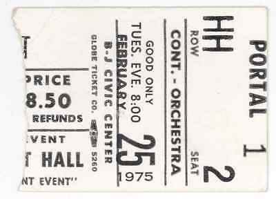 RARE ? Tom T Hall? 2/25/75 Birmingham AL Concert Ticket Stub!
