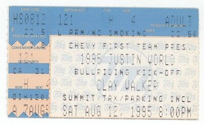 RARE Clay Walker 8/12/95 Houston TX The Summit Concert Ticket Stub!