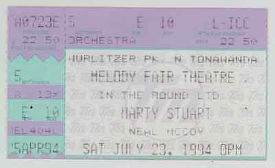 RARE Marty Stuart 7/23/94 Buffalo NY Melody Fair Concert Ticket Stub!