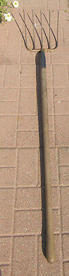 "VINTAGE FARM=GARDEN POTATO FORK/SPADE/PITCH FORK-60""LONG= 5 Tine"