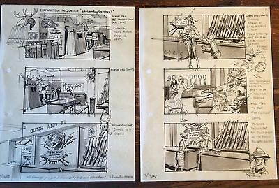 1963 Original Ink Drawing Storyboard WHO'S MINDING THE STORE w Jerry Lewis #50