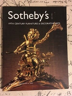 2001 Sotheby's Catalog 19th Century Furniture Sculpture Art Auction Book 11/9/01