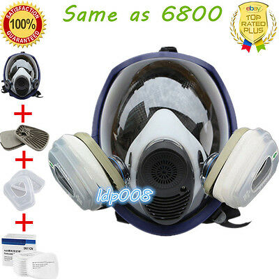 Same as 6800 Gas Mask Full Face Respirator For Painting Spraying Filter Adapter