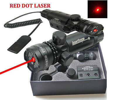 635nm Red Dot Laser Sight 20mm Scope Mount Remote Switch For Rifle Hunting