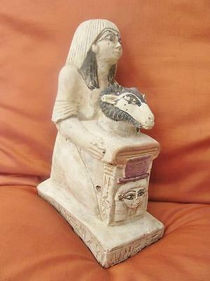 RARE Antique Egyptian Statue of Ancient Female Goddess celebrating the birth