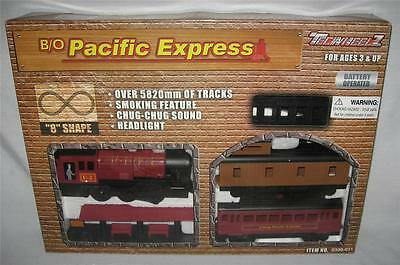 B/o Pacific Express Train Set 3 Cars With 8 Foot Track New Battery Operated