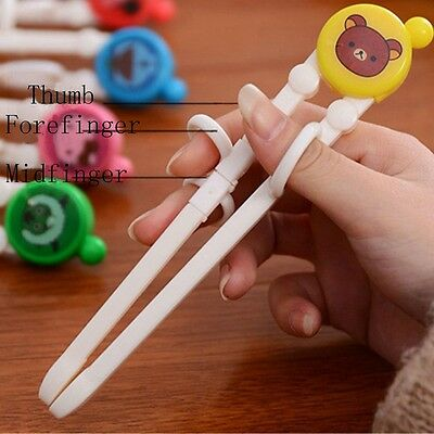 Safe Kids Baby Chopsticks Children Cartoon Learning Training Education Chopstick