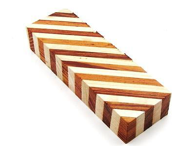 KNIFE-PARTS-KITS-BLANKS: Exotic Laminated Rose Wood & White Ash Knife Blank