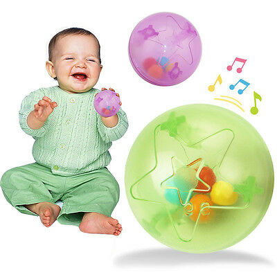 Kids Baby ToddlersFunny Ball Bell Hand Rattles Training Grasping Ability Toy