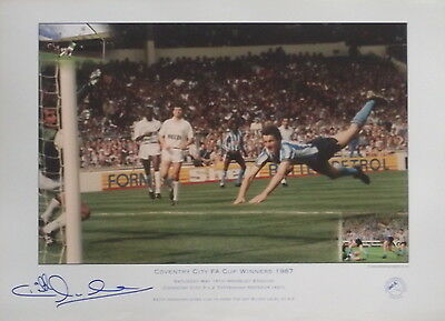 Keith Houchen signed Coventry City 1987 FA Cup Final Diving Header Spurs