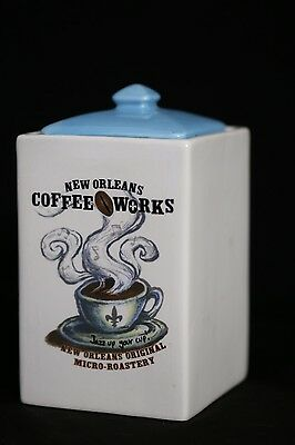 New Orleans Coffee Works Ceramic Storage Canister