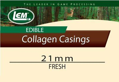 LEM Products Fresh Clear Edible Collagen Casing (21mm) New