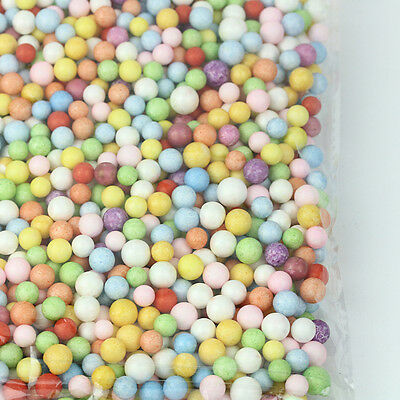 1Bag Colorful Polystyrene Styrofoam Filler Foam Beads 7-9/2.5-3.5mm Balls Decors