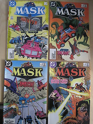 MASK : BUNDLE of 4 ISSUES FROM 2nd SERIES : #s 3,4,5,6. TV SERIES. DC.1987
