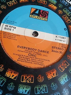"Chic - Everybody Dance 7"" single EX"
