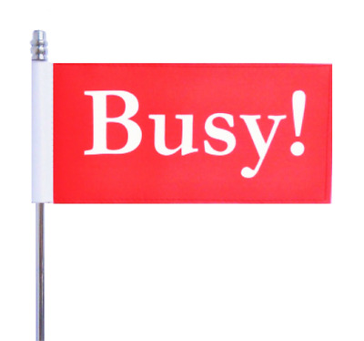 Busy Red Office Workplace Ultimate Table Flag