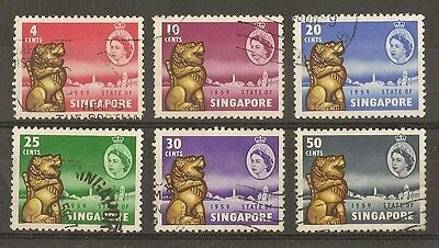 Singapore 1959 New Constitution SG53-58 Fine Used