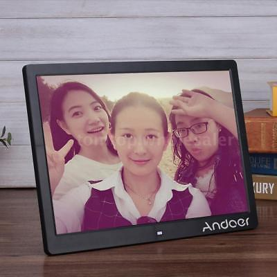 """15.6"""" HD 1080P LED Digital Photo Picture Frame Clock Movie Player Remote Control"""