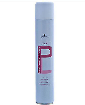 PROFESSIONNELLE Laque Super Strong Hold Haarspray 500 ml Schwarzkopf NEU!