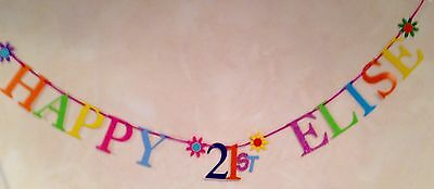 21st PARTY BANNER BIRTHDAY BUNTING DECORATION