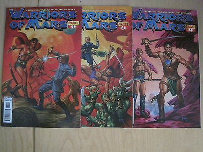 WARRIORS of MARS  : COMPLETE RUN of #s 1,2,3. DYNAMITE. 2012. JOHN CARTER