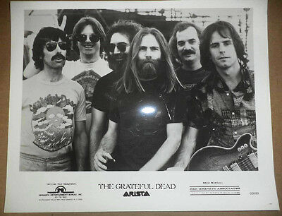 Vintage The Grateful Dead Arista Records Promotional Photo Jerry Garcia & Band!!