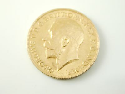 Full Sovereign gold coin 22 carat dated 1913 King George V 8.0 grams