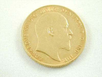 Full Edward Vii Antique Sovereign Minted In Sydney 1909