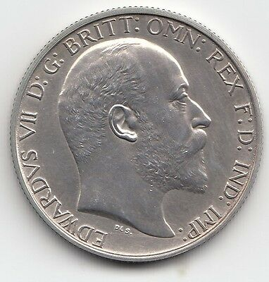Very Rare Edward VII 1902 Matt Proof Silver Florin Two Shillings 2/-