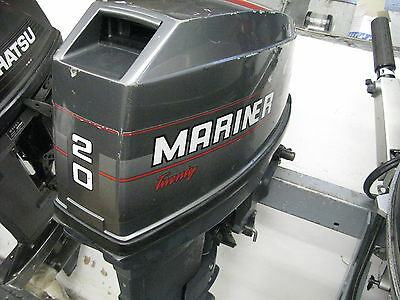 20 hp Mariner  2 stroke outboard long shaft remote control boat engine warranty