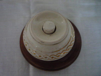 Genuine Antique Ceramic Decorative Door Bell Push Architectural Reclaimed