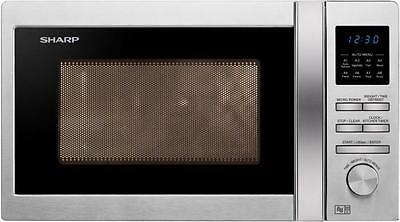 Sharp Solo R222STMS Stainless Steel Microwave Oven 800 Watts 20 Litre Capacity