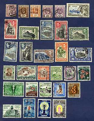 Ceylon 1886/1957-#131/#335&b1/b2-Miscellaneous Group Of 31-Used