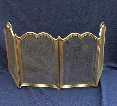 Fantastic Top Quality Heavy Duty Solid Brass Folding  Fire Spark Screen