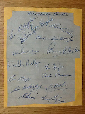 Rare Blackburn Rovers signed page 15 autographs 1956