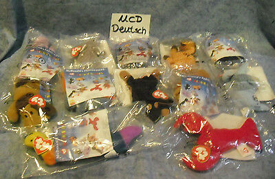 W-F-L TY  Teenie Beanie Babies Mc Donalds Deutschland Auswahl Tier Happy Meal