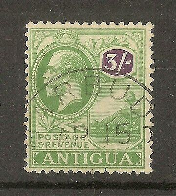 Antigua 1922 3/- SG79 Fine Used Cat£100 - Barbuda CDS
