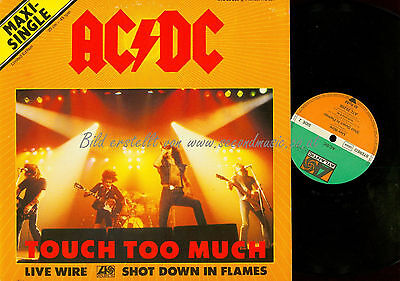 Maxi Lp--Ac Dc Touch Too Much // Atl 20206 Germany
