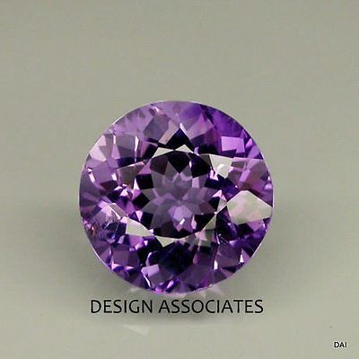 Amethyst Fluorite 8 Mm Round Cut All Natural Gemstone 2.20 Carats