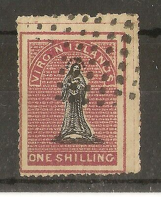 Br Virgins One Shilling Type 4 Fine Used