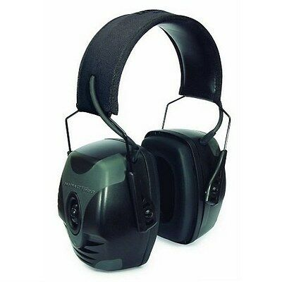 Howard Leight R-01902 Impact Pro Electronic Earmuff Black/Gray Retail Package