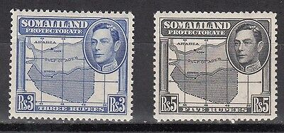 Somaliland Protectorate Scott 94-5 Mint NH (Catalog Value $53.00)