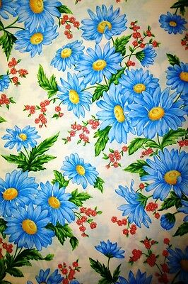 Blue Daisies-- Padded Cover For 15X55 Ironing Board