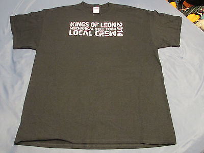 2014 KINGS OF LEON - Backstage Concert Tour CREW T SHIRT Back Stage SIZE XL